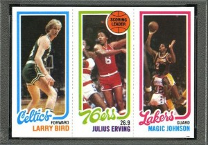 Magic Johnson-Larry Bird rookie card