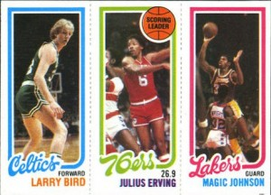 Larry Bird Magic Johnson rookie card