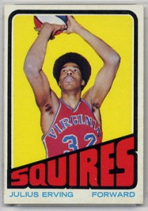 Julius Erving rookie card