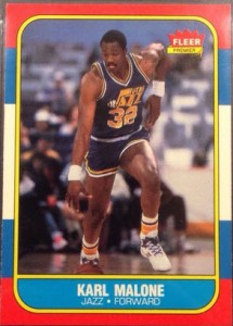 Karl Malone Fleer Rookie Card