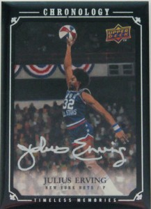 Julius Erving ABA Chronology Slam Dunk autographed card